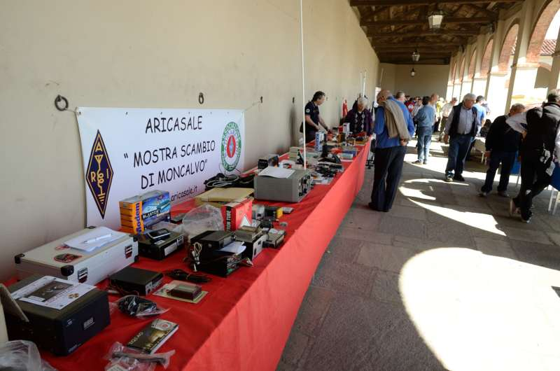 Booth of the italian amateur radio association ARI - Casale Monferrato